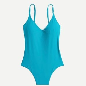 J. Crew Rounded V-neck One-piece Swimsuit